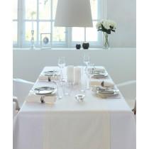 Tischwäsche Uni-Satin Gent Hohlsaum - Weiß