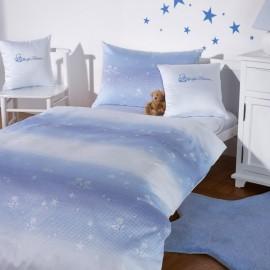Mako-Brokat-Damast Bettwäsche, Dessin 2486 kleiner Stern